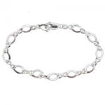 Oval Link Charm Bracelet