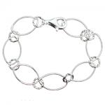 Circle Twist Charm Bracelet