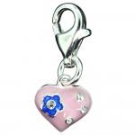 Flower Heart Charm