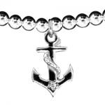 Silver Stretch Bracelet with Charm