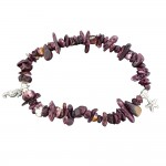 Purple Oyster Stone Charm Bracelet