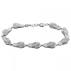 Plumeria Flip Flop Scroll Bracelet