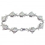 White Opal Fish Bracelet