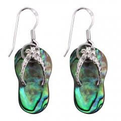 Abalone Shell Flip Flop Earrings