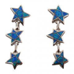 Triple Starfish Opal Earrings