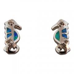 Opal Seahorse Post Earrings