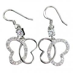 Butterfly Sparkle Dangle Earrings