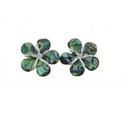 Abalone Shell Plumeria Earrings