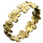Gold Plumeria Band