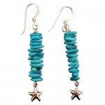 Turquoise Starfish Earrings - USA
