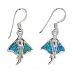 Opal Stingray Dangle Earrings
