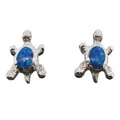 Opal Turtle Post Earrings