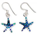 Opal Starfish Dangle Earrings
