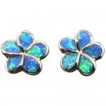 Plumeria Opal Post Earrings