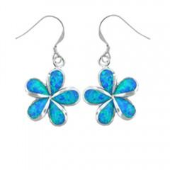 Plumeria Opal Dangle Earrings