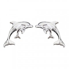 Double Dolphin Post Earrings - USA