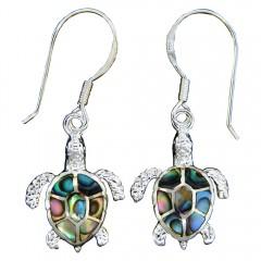 Abalone Shell Turtle Earrings
