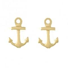 14K Gold Anchor Post Earrings