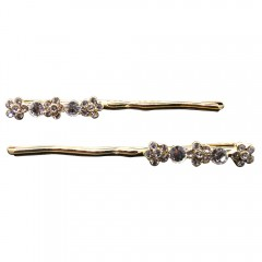 Gold Plated Flower Bobby Pin Set