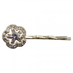 Golden Elegance Floral Hair Pins