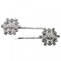 Crystal Flower Hair Pin Set