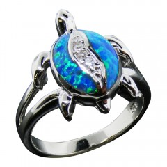 Sparkle Opal Turtle Ring