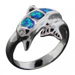 Opal Dolphin Ring