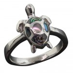 Abalone Turtle Ring