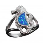 Opal Seahorse Ring
