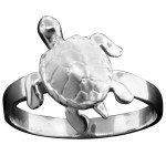Thin Band Turtle Ring