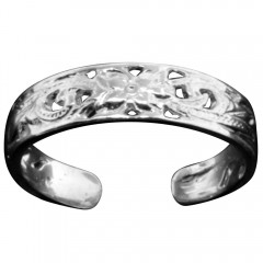 Flower Leaf Scroll Toe Ring - USA
