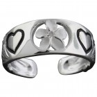 Plumeria Heart Toe Ring