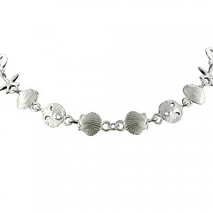 Silver Mixed Sealife Necklace