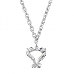 Kissing Seahorse Necklace with Swarovrski Sapphire Eyes