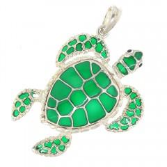 Green Turtle Pendant