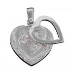 Scroll Heart Pendant