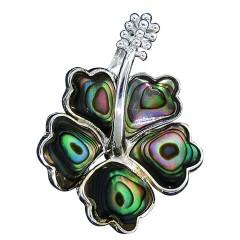 Abalone Hibiscus Pendant
