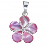 Mother of Pearl Plumeria Pendant