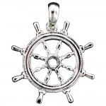 Ship Wheel Pendant