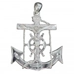 Anchor Crucifix Pendant