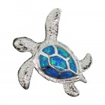 Swimming Opal Sea Turtle Pendant