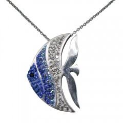 Blue Angelic Angelfish Pendant