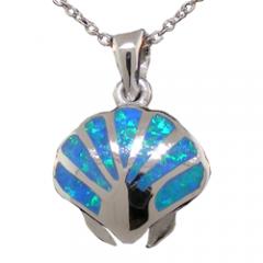 Opal Seashell Pendant
