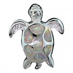 White Opal Turtle Pendant