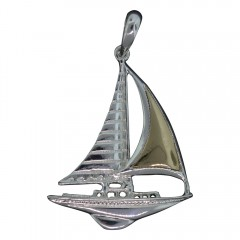 Golden Sail Sailboat Pendant- Made In The USA