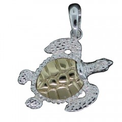 Gold Shell Turtle Pendant