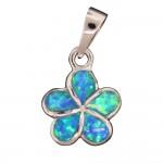 Opal Plumeria Pendant