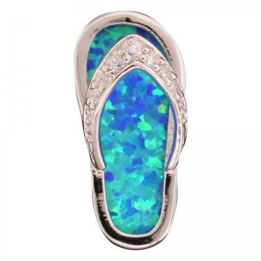 Opal flip flop pendant aloadofball Gallery