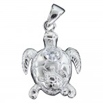 Sea Turtle With Baby Pendant