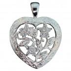 Floral Beauty Plumeria Heart Pendant